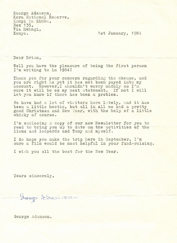 new year letter george adamson letters 28235